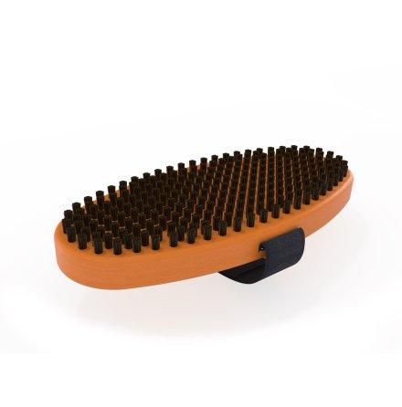 Borste oval nylon svart